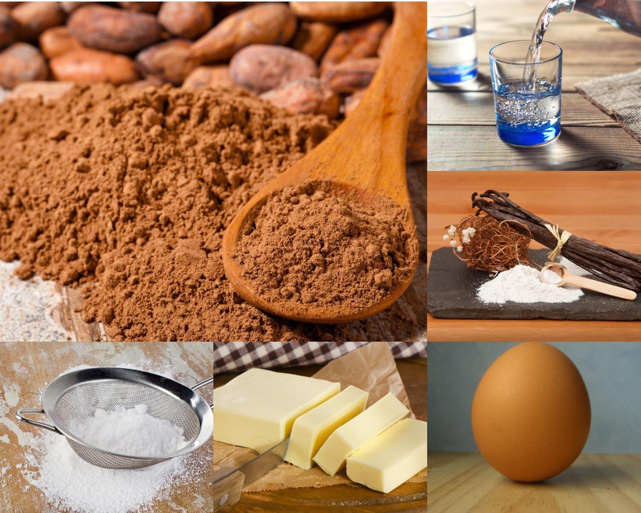 Ингредиенты для шоколадно-масляного крема