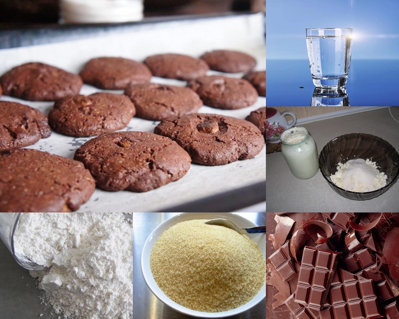 Ингредиенты для шоколадного торта из печенья с творогом
