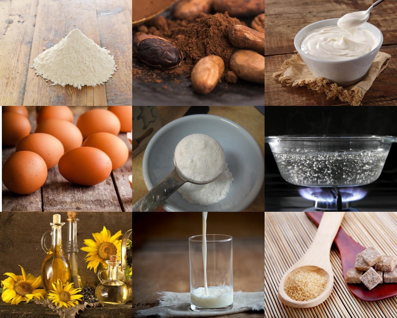 Ингредиенты для торта со сметанным кремом