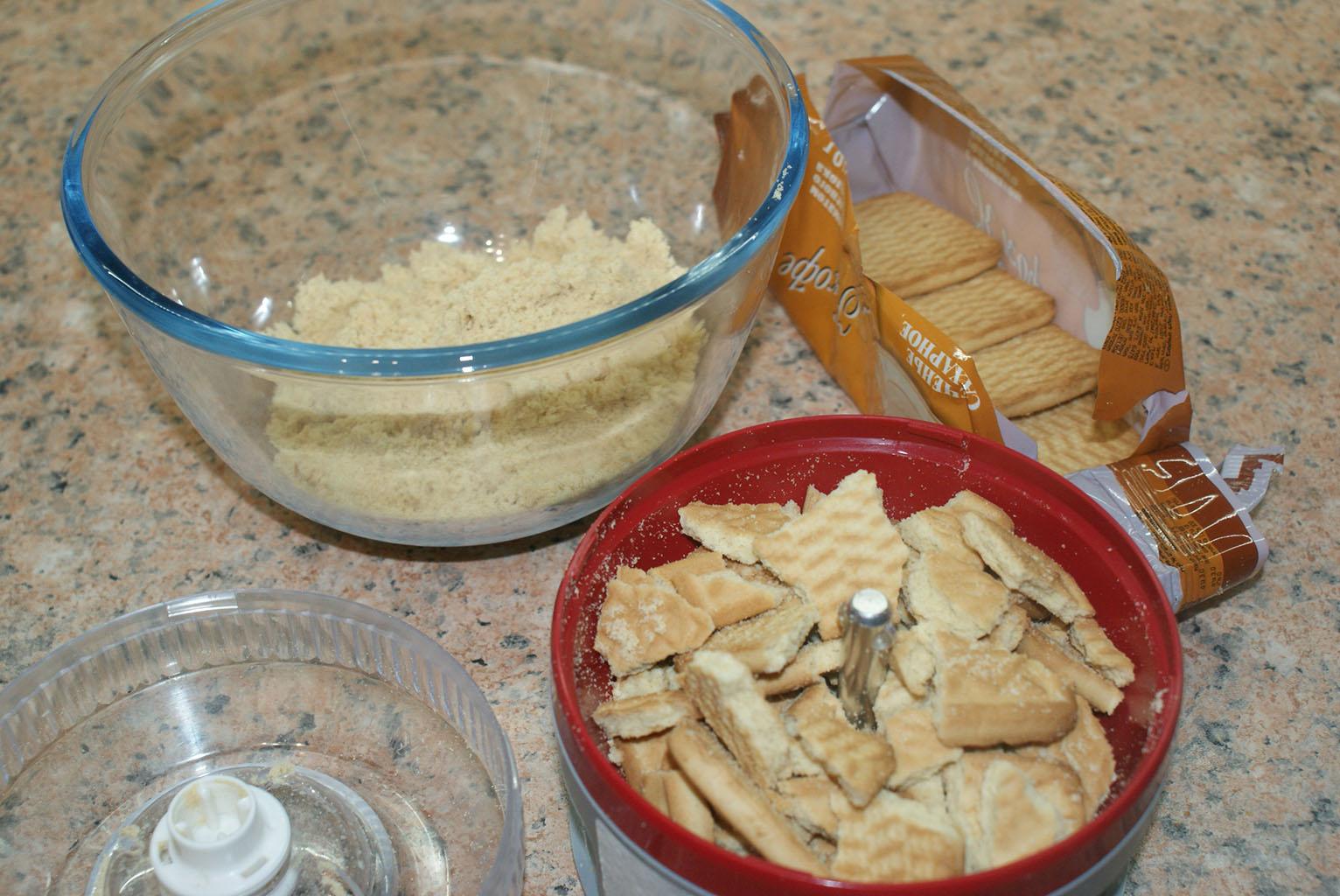 Измельчить печенье