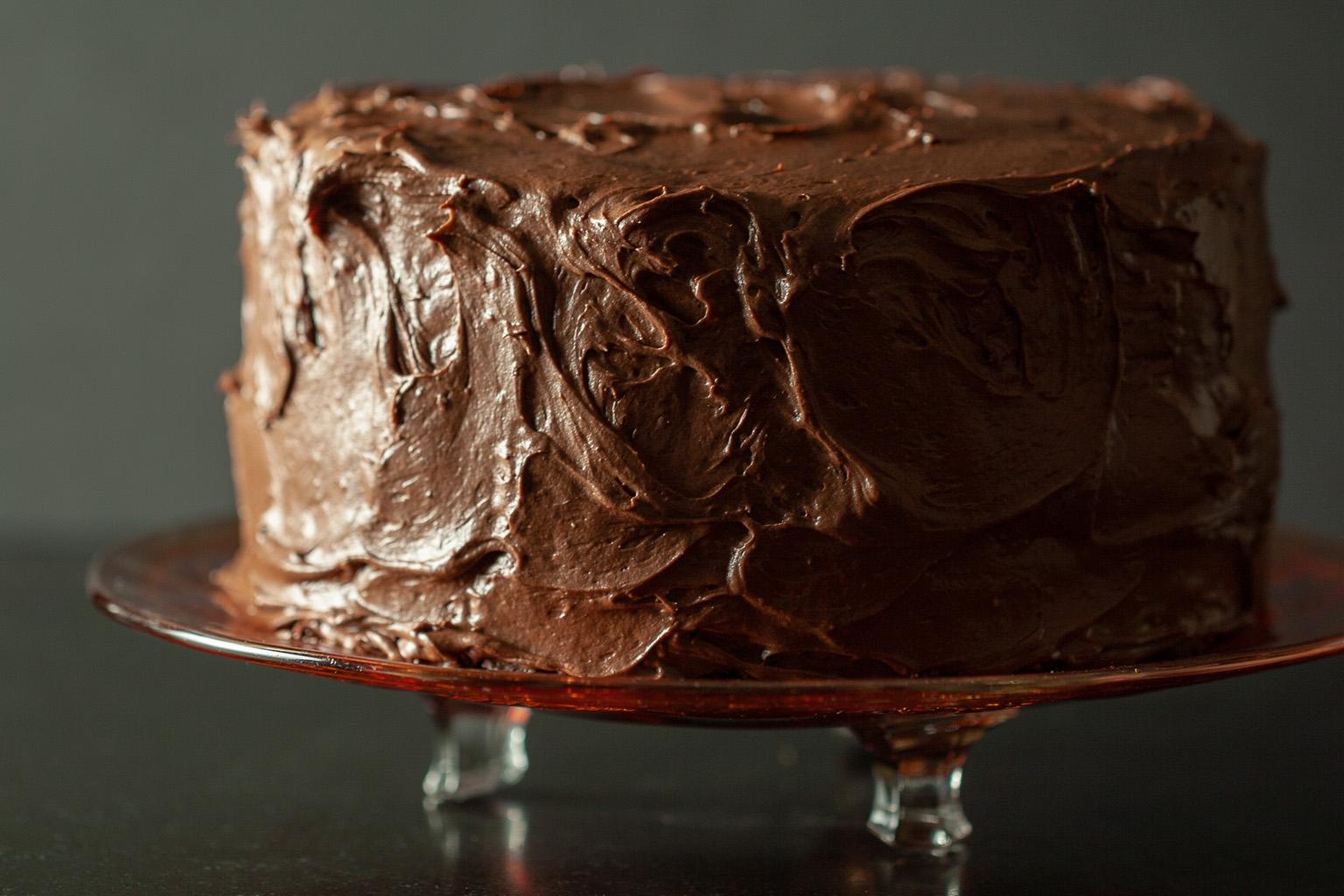 Шоколадный крем-чиз для торта