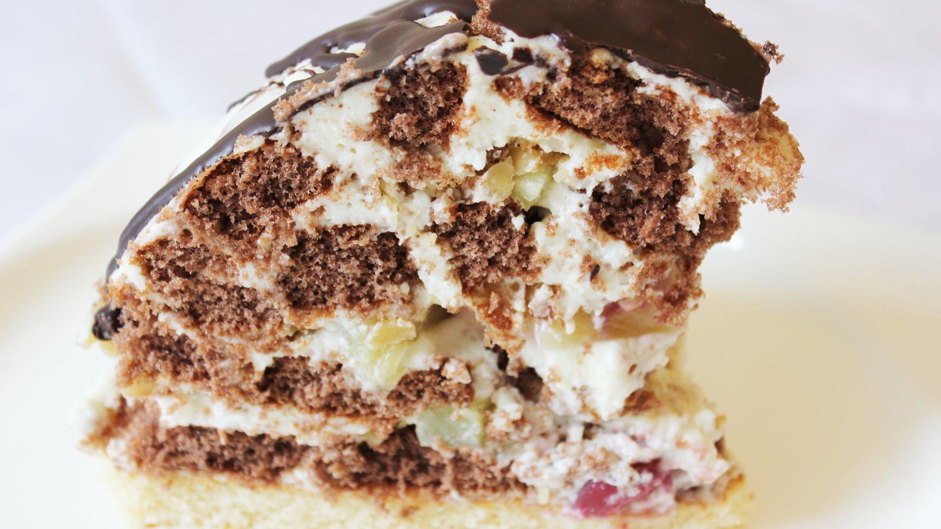 Торт без выпечки из шоколадных пряников