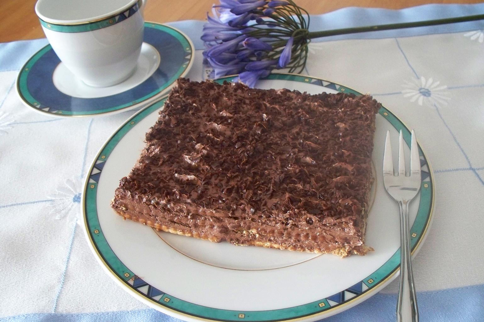 Торт из печенья с кофейным ароматом
