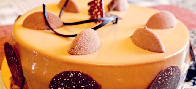 Карамельная глазурь для торта