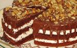 Шоколадный торт с орехами
