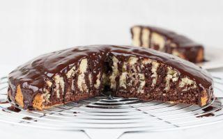 Пирог «Зебра» на сметане