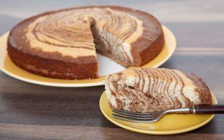 Торт «Зебра» на кефире