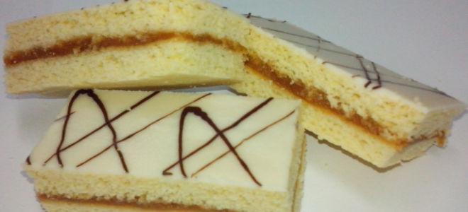 Песочное пирожное с глазурью из СССР