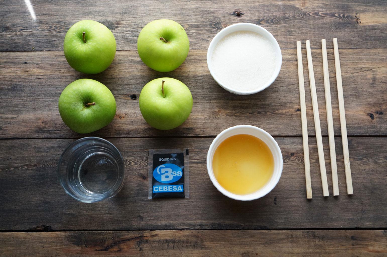 Ингредиенты для приготовления яблок в глазури