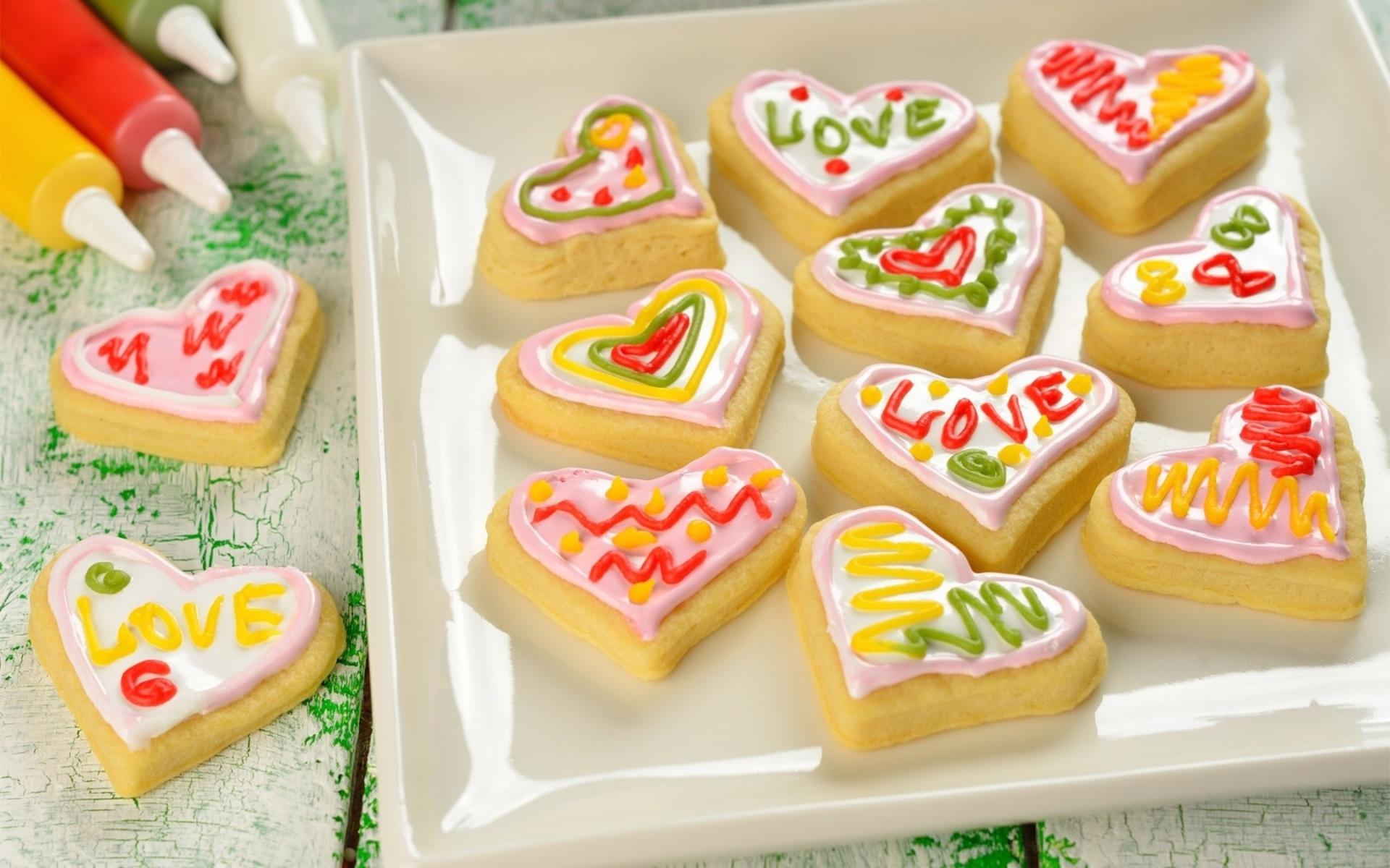 Творожное печенье с цветной глазурью