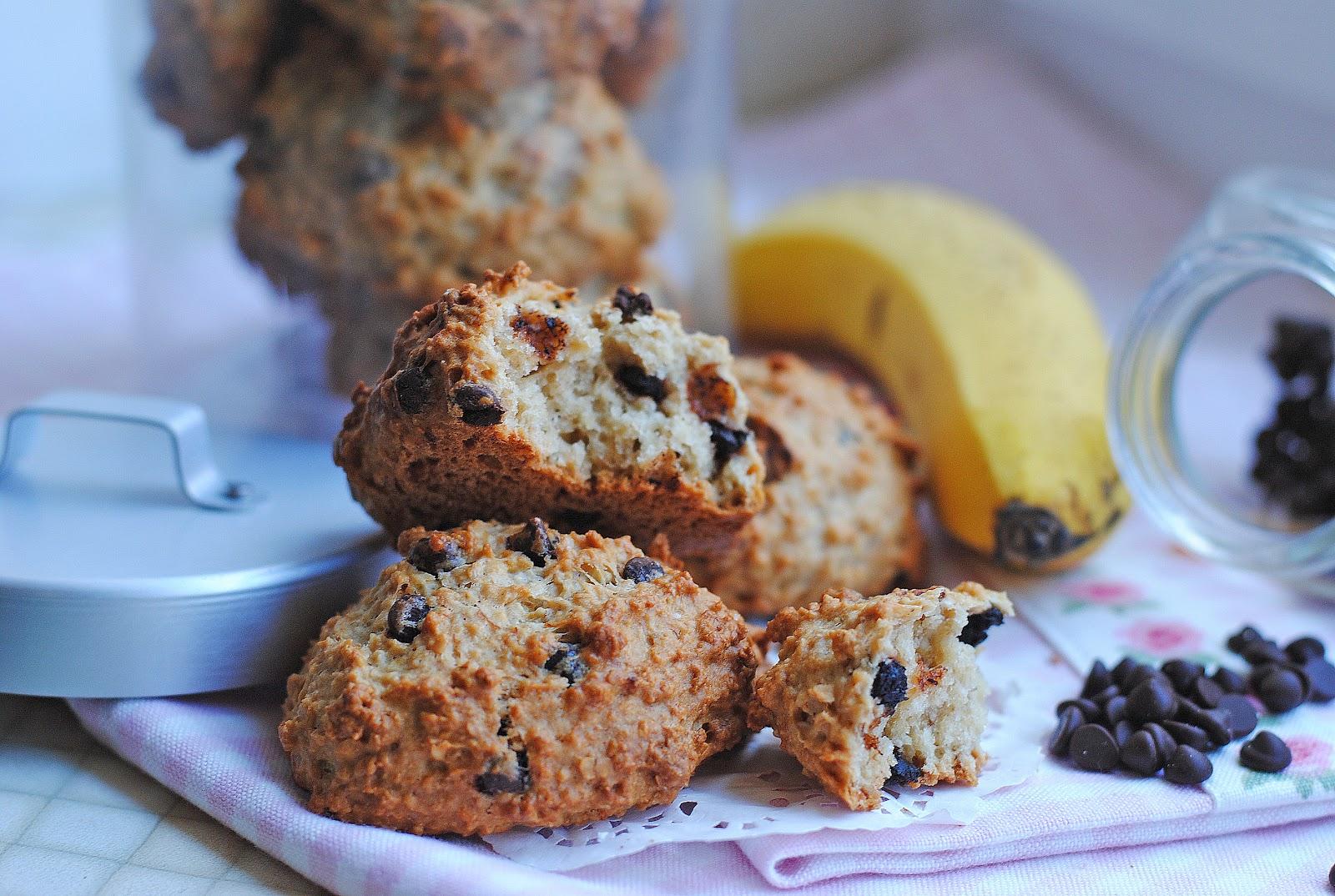 Овсяное печенье с шоколадом и бананом