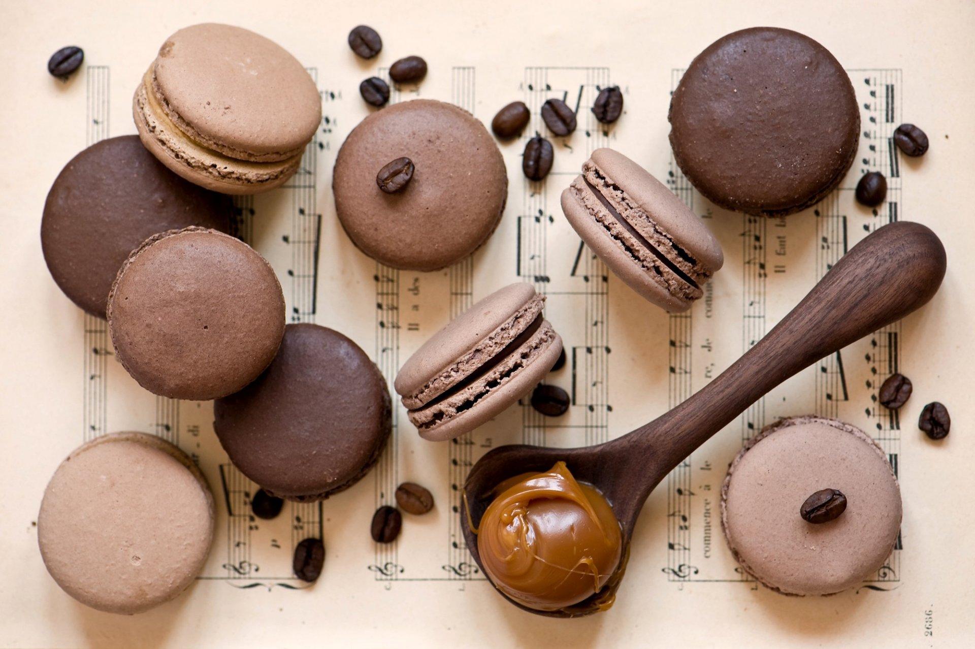 Шоколадно-кофейное печенье с ирисками