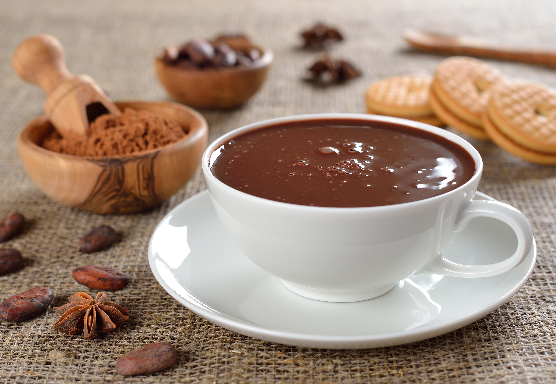 Горячий шоколад с какао и специями