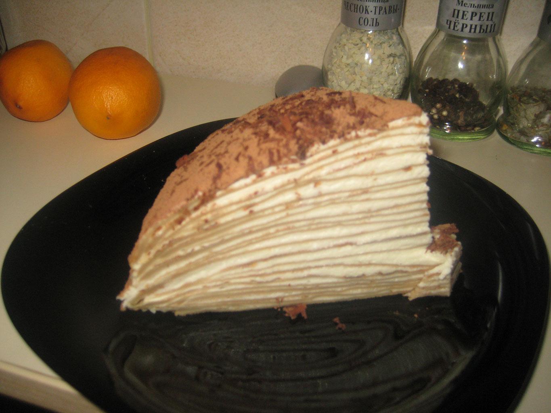 Блинный торт с сыром Маскарпоне