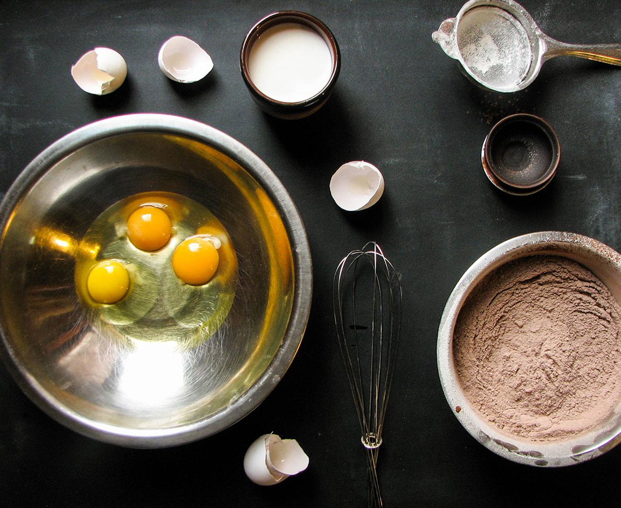Ингредиенты для блинов с какао
