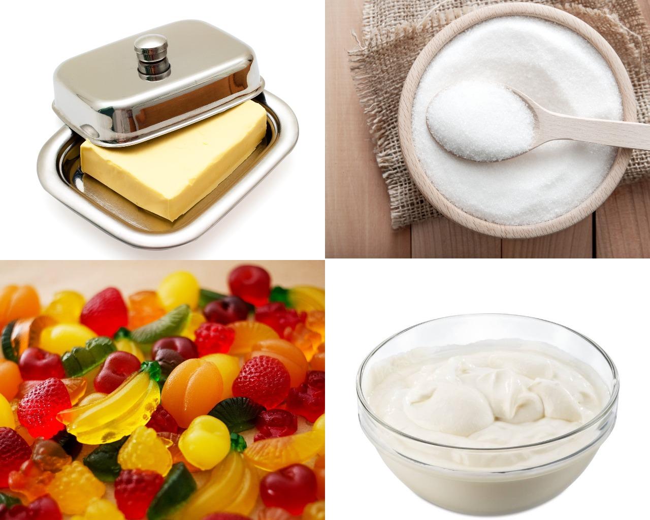 Ingredienty-dlya-marmeladnogo-pokrytiya Как покрыть печенье глазурью