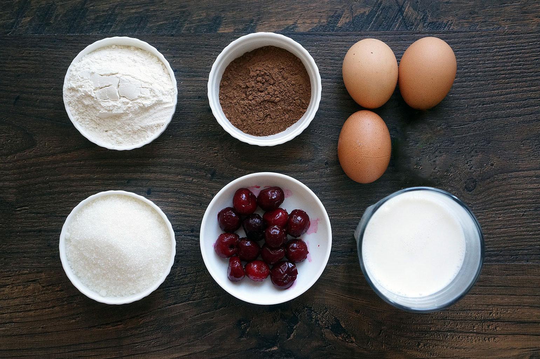Ингредиенты для пирога «Пьяная вишня»