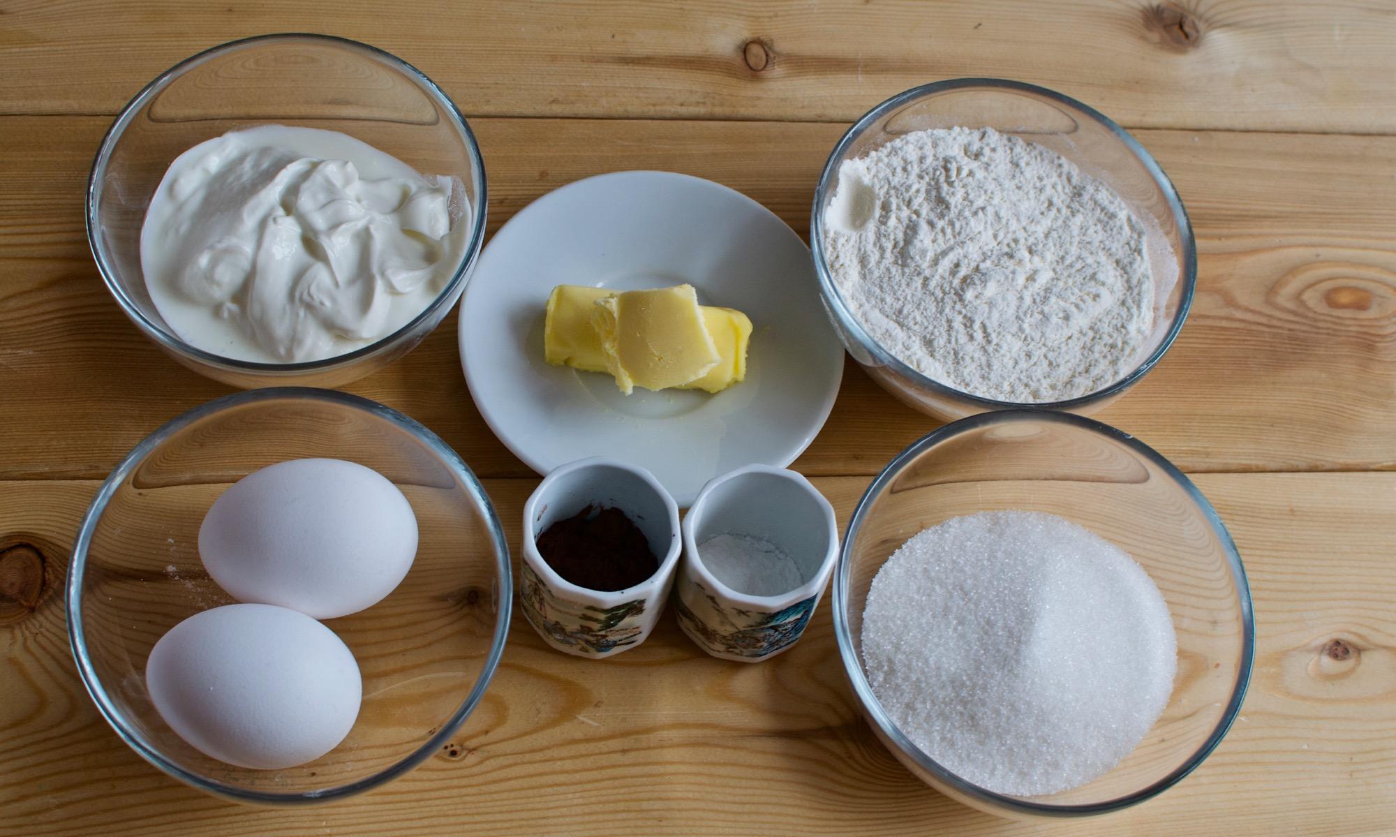 Ингредиенты для пирога «Зебра»