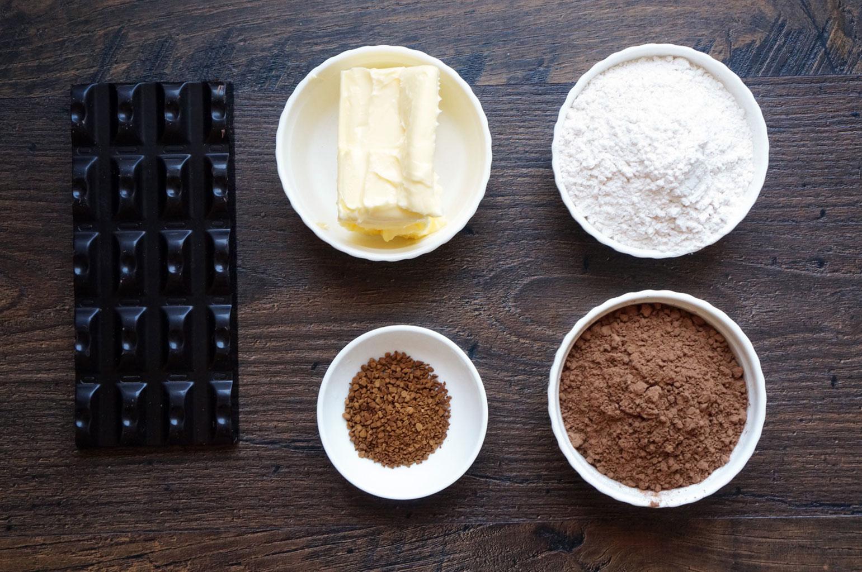 Ингредиенты для шоколадно-кофейного крема