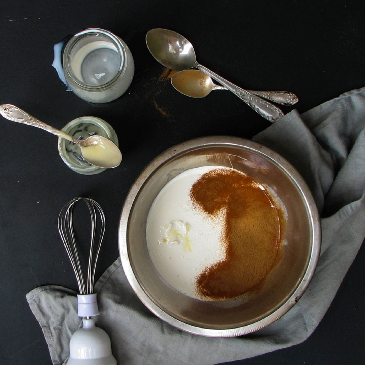 Ингредиенты для шоколадного крема из какао