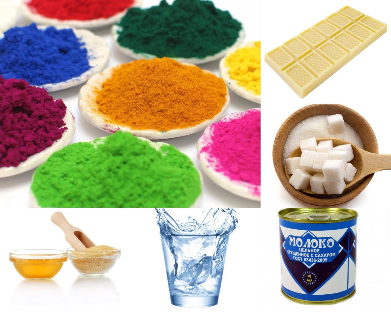 Ингредиенты для зеркальной глазури с медом