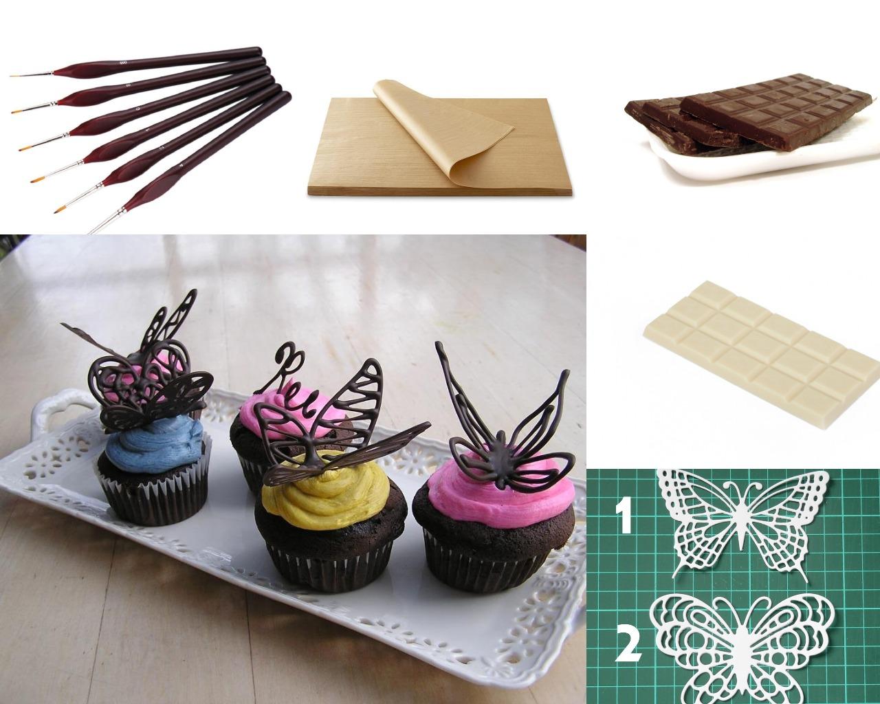 Инструменты для изготовления бабочек из шоколада
