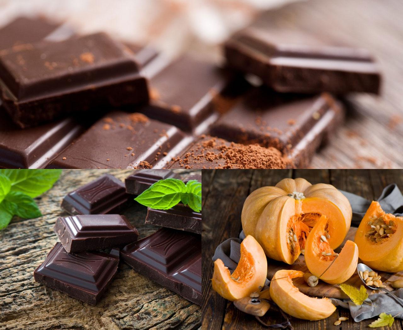 Горький, темный шоколад и тыква для брауни