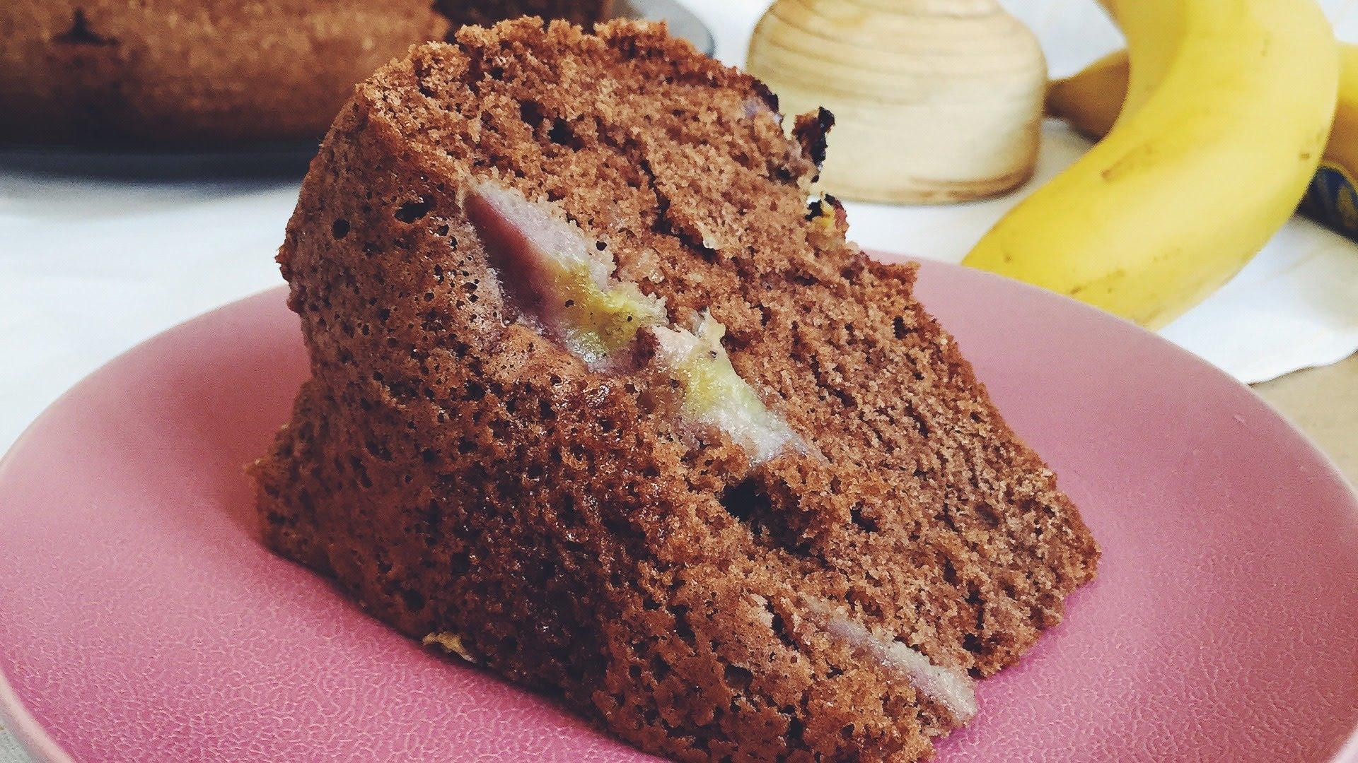 Шоколадно-банановый кекс в мультиварке