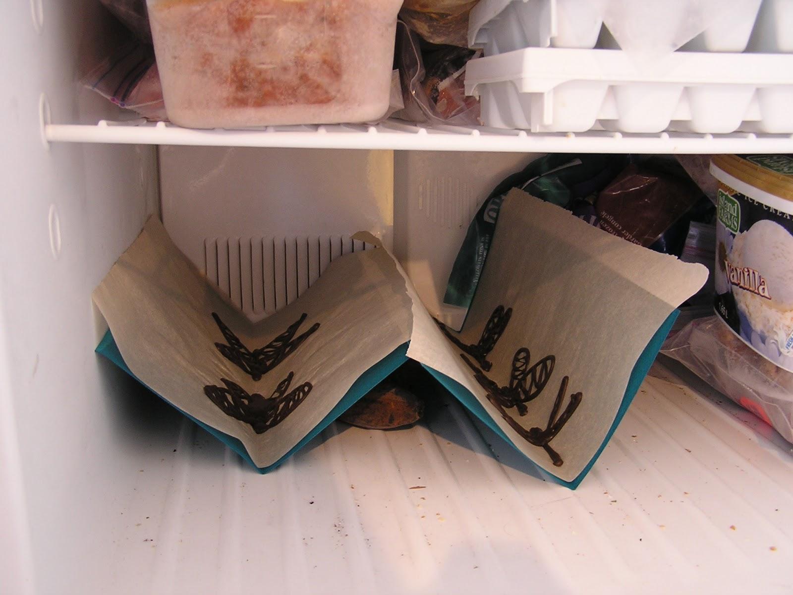 Шоколадные бабочки в холодильнике