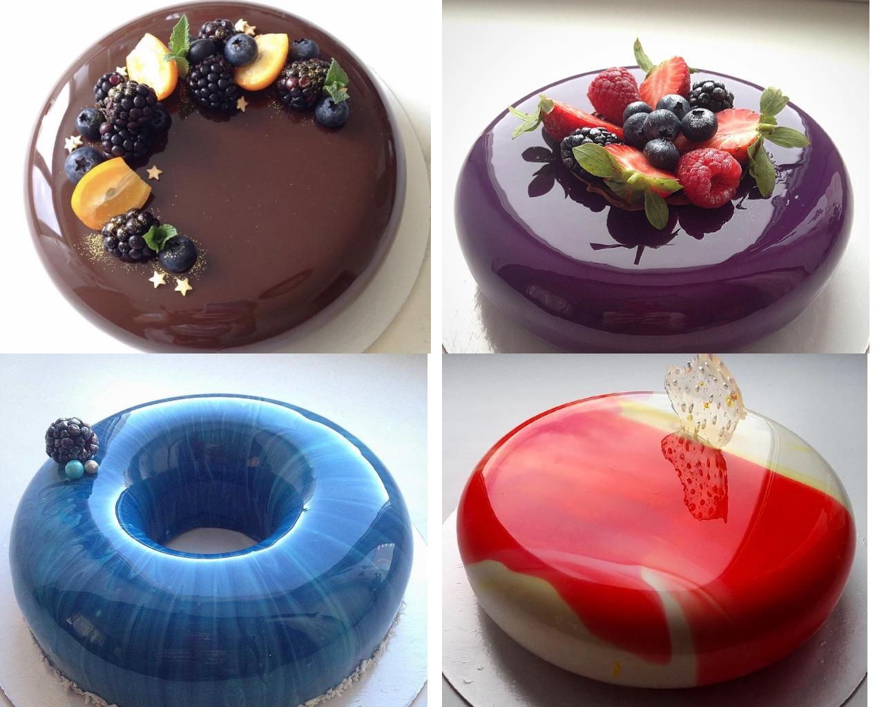 Торты с цветной глазурью