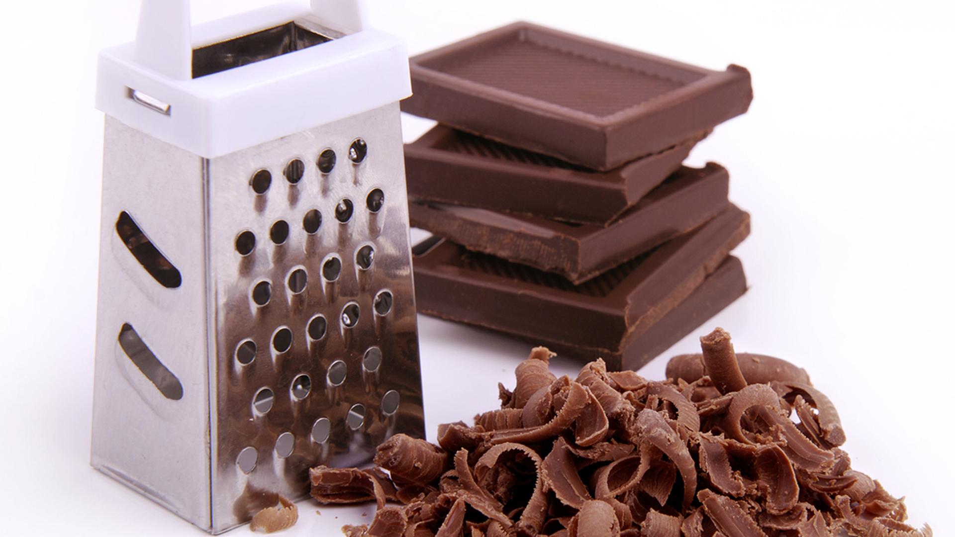 Натертый на терке шоколад