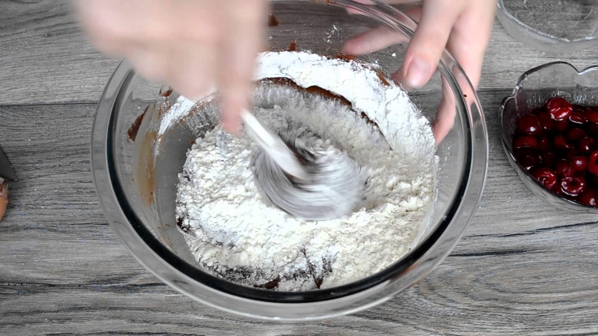 Ингредиенты для брауни творогом с вишней