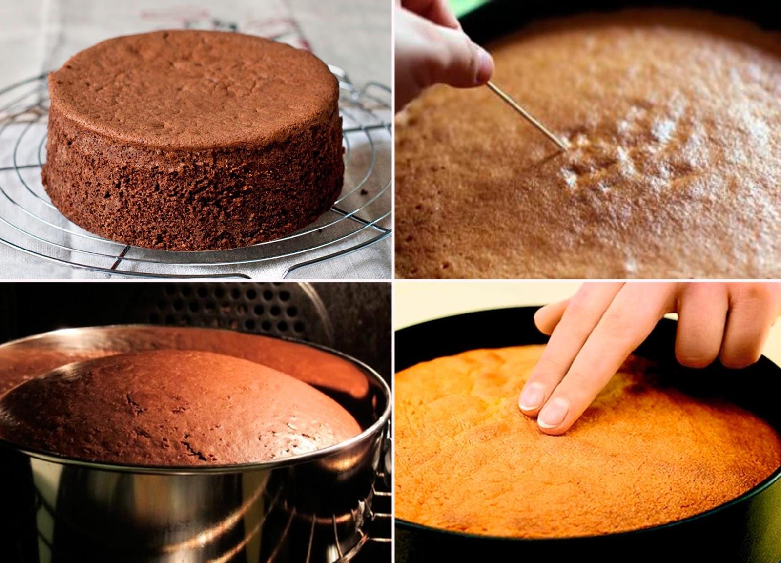Выпечка шоколадного бисквита