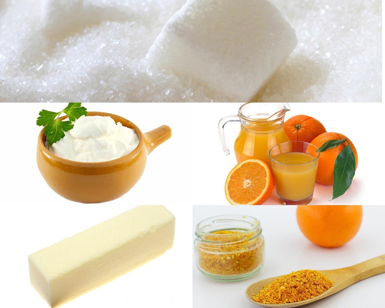 Ингредиенты для апельсиновой глазури