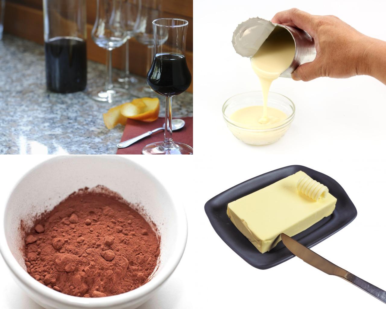 Ингредиенты для кофейно-шоколадного крема