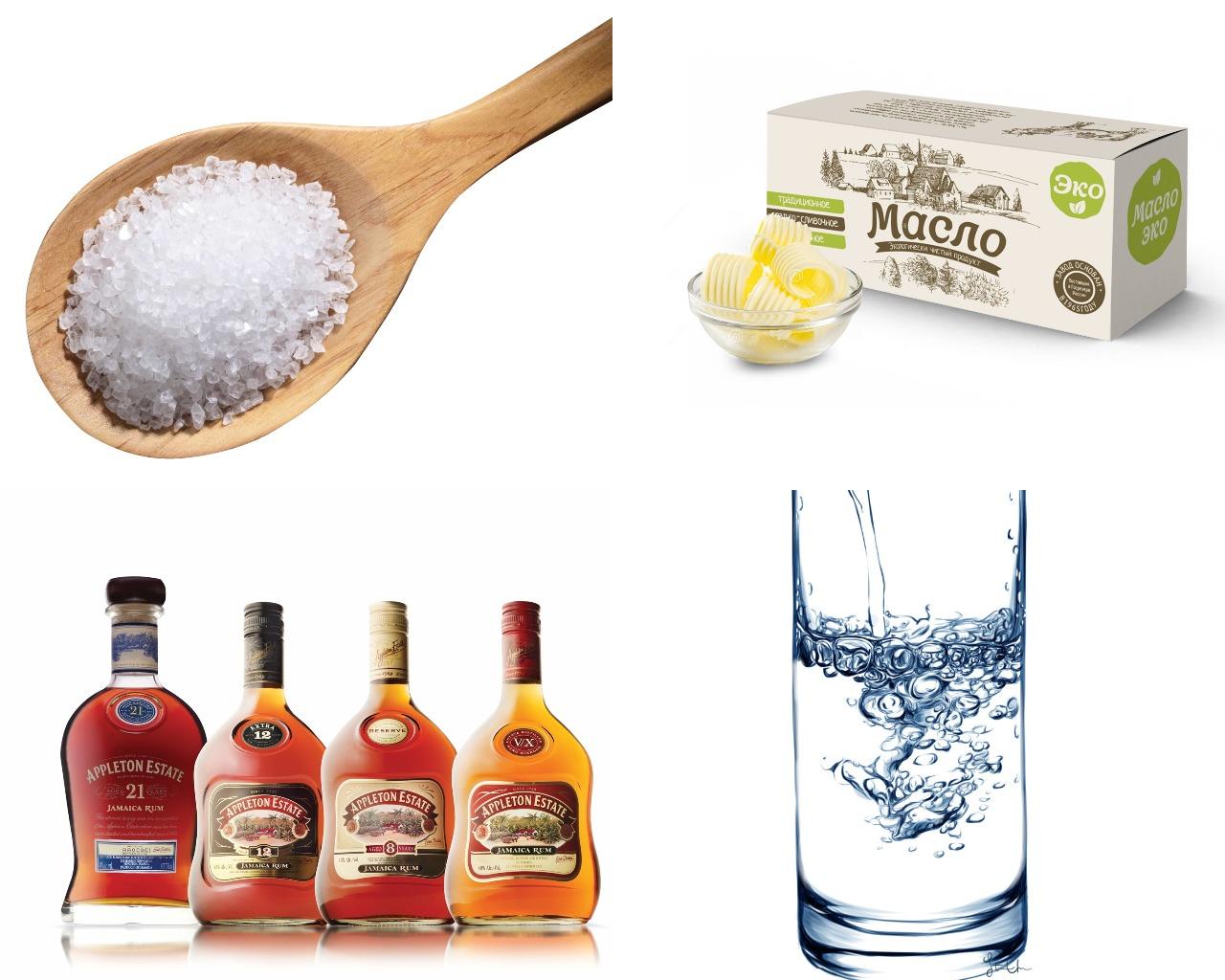 Ингредиенты для ромовой глазури