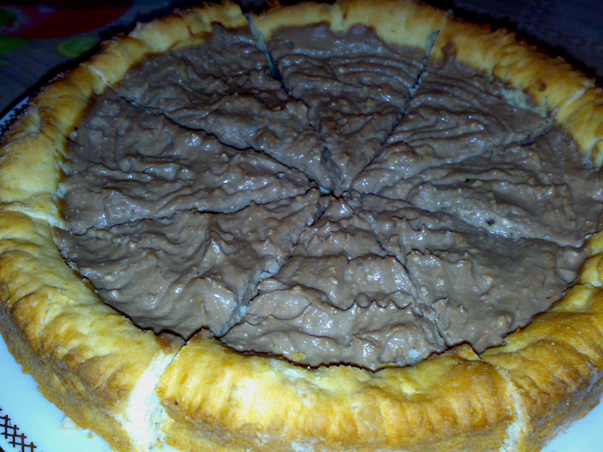 Песочный пирог с творогом и шоколадом