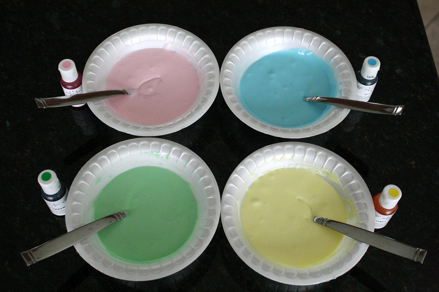 Цветная глазурь