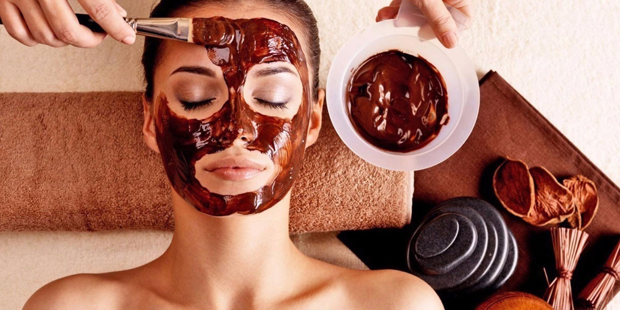 Шоколадное обертывание для лица