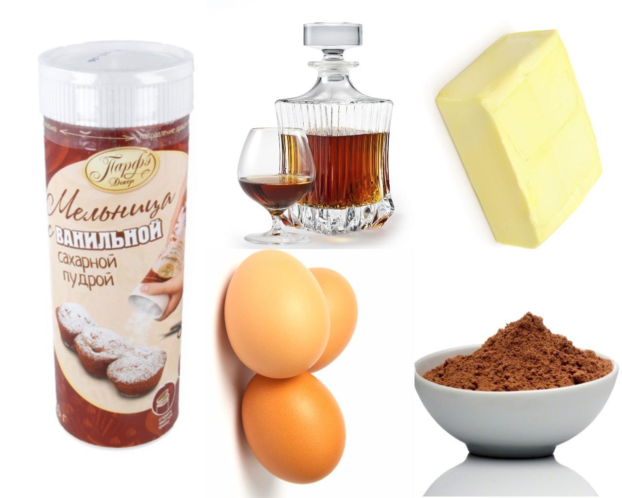 Ингредиенты для шоколадного крема с какао