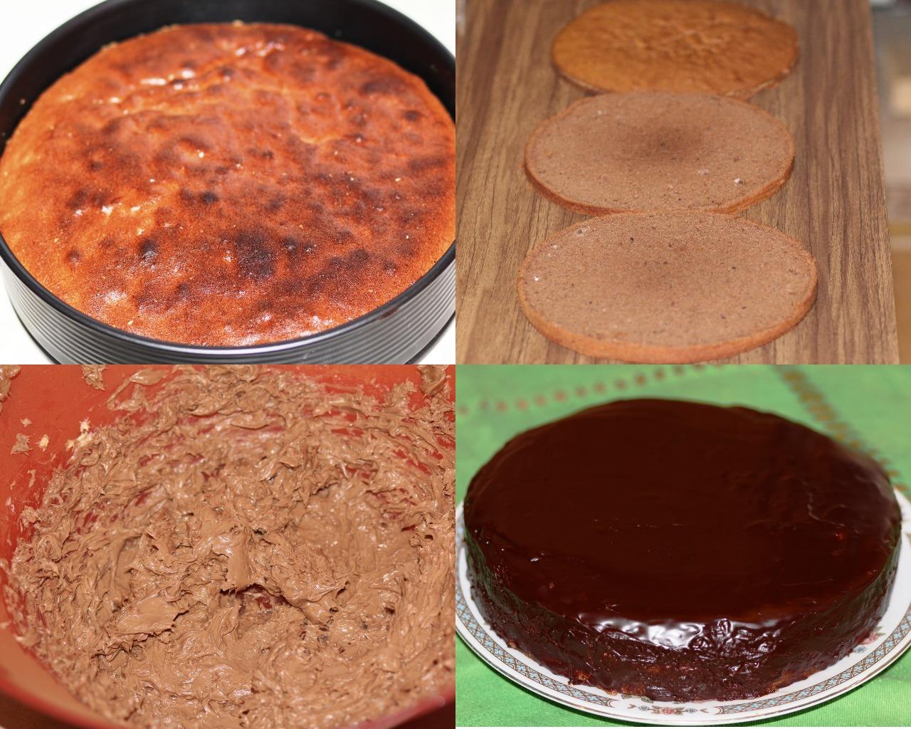"""Этапы приготовления торта """"Прага"""""""