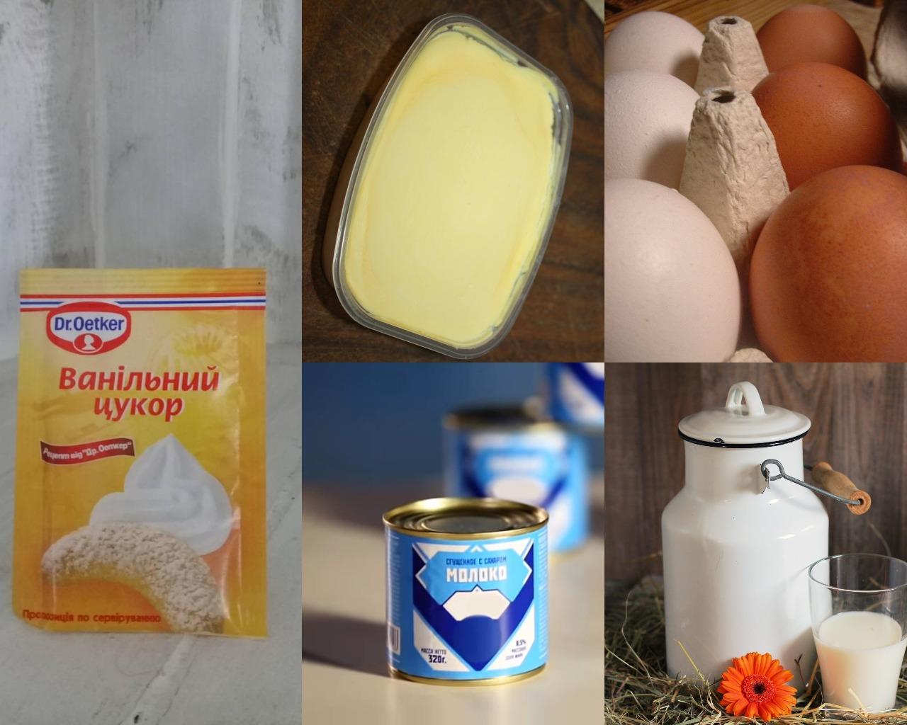 Ингредиенты для белого крема