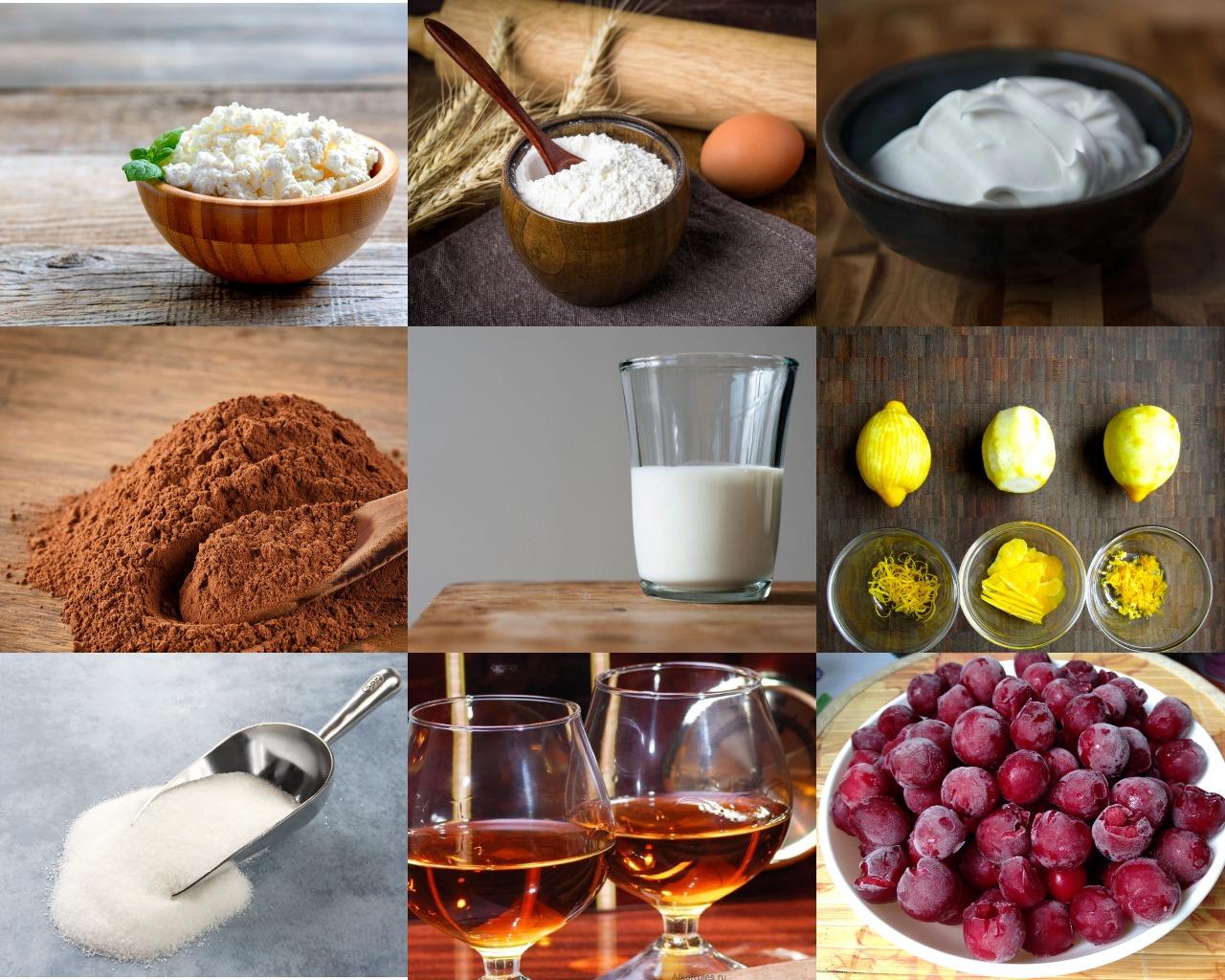 Ингредиенты для бисквита и начинки