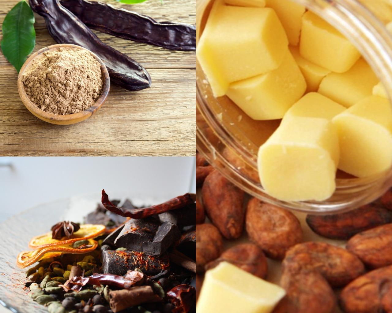 Ингредиенты для шоколада из кэроба
