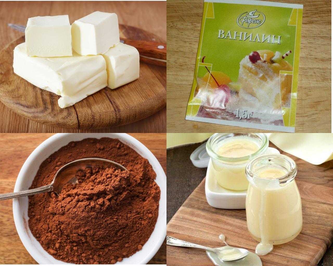 Ингредиенты для шоколадного крема