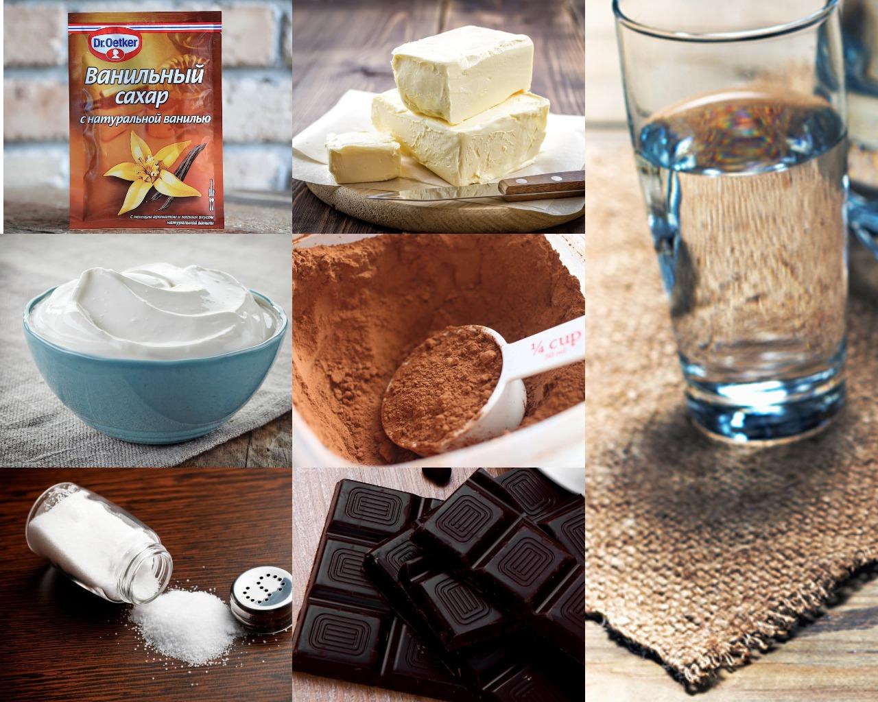 Ингредиенты для сметанно-шоколадного крема