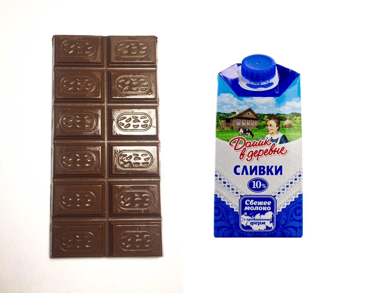 Шоколад и сливки для глазури